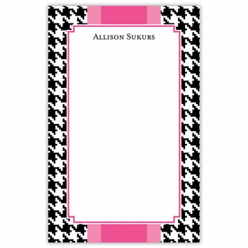 boatman geller alex houndstooth black notepad