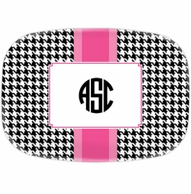 boatman geller alex houndstooth black platter