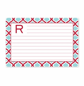 boatman geller alex houndstooth black recipe card
