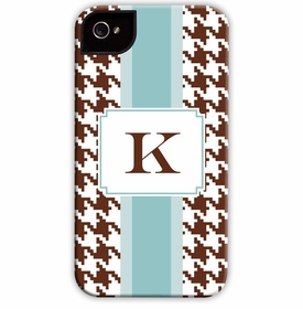 boatman geller alex houndstooth chocolate cell phone case