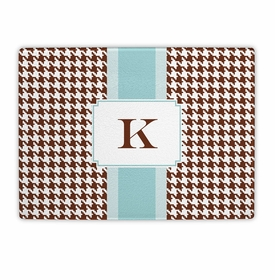 boatman geller alex houndstooth chocolate cutting board
