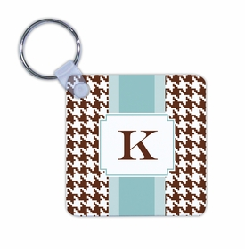 boatman geller alex houndstooth chocolate key chain