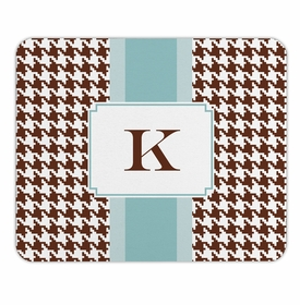 boatman geller alex houndstooth chocolate mouse pad