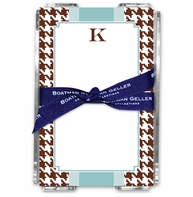 boatman geller alex houndstooth chocolate note sheets