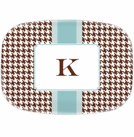 boatman geller alex houndstooth chocolate platter