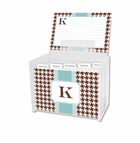 boatman geller alex houndstooth chocolate recipe box