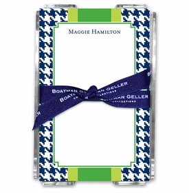 boatman geller alex houndstooth navy acrylic note sheets