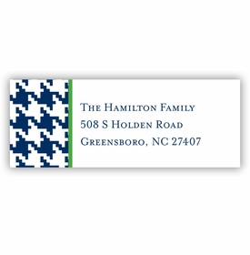 boatman geller alex houndstooth navy address labels