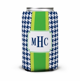 boatman geller alex houndstooth navy can koozie