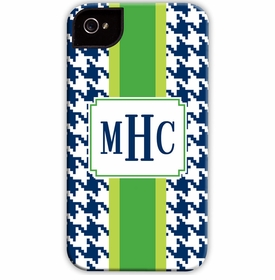 boatman geller alex houndstooth navy cell phone case
