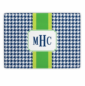 boatman geller alex houndstooth navy cutting board