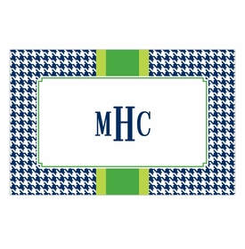 boatman geller alex houndstooth navy disposable placemats