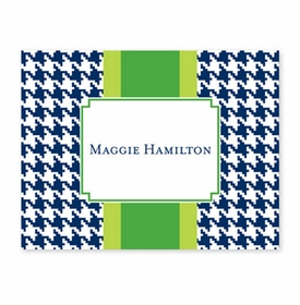 boatman geller alex houndstooth navy fold over note
