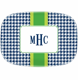 boatman geller alex houndstooth navy platter