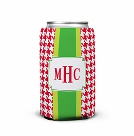 boatman geller alex houndstooth red can koozie