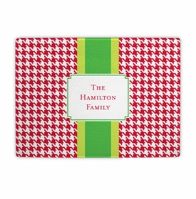 boatman geller alex houndstooth red cutting board