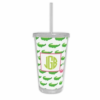 boatman geller alligator repeat beverage tumbler