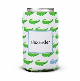 boatman geller alligator repeat blue can koozie
