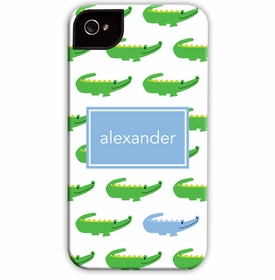 boatman geller alligator repeat blue cell phone case