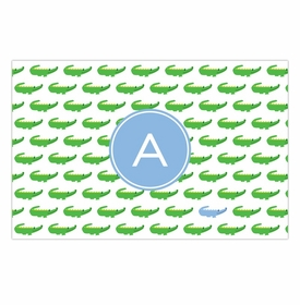 boatman geller alligator repeat blue disposable placemats