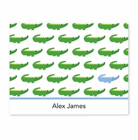boatman geller alligator repeat blue fold over note