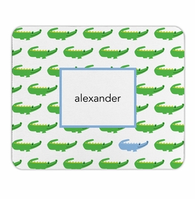 boatman geller alligator repeat blue mouse pad