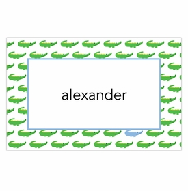 boatman geller alligator repeat blue placemat