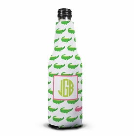 boatman geller alligator repeat bottle koozie