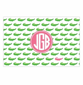 boatman geller alligator repeat disposable placemats