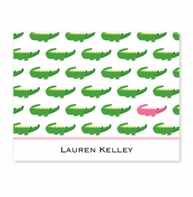 boatman geller alligator repeat fold over note