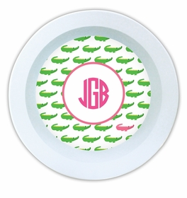 boatman geller alligator repeat melamine bowl
