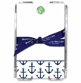 boatman geller anchors navy acrylic note sheets