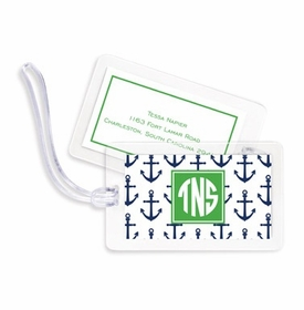 boatman geller anchors navy bag tags