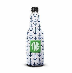 boatman geller anchors navy bottle koozie