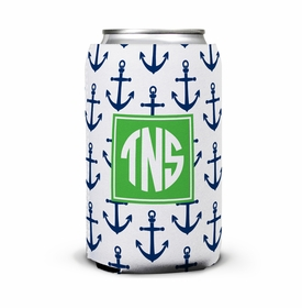 boatman geller anchors navy can koozie