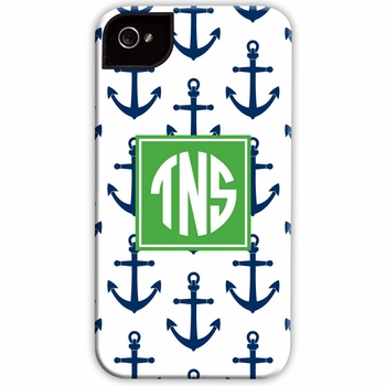 boatman geller anchors navy cell phone case