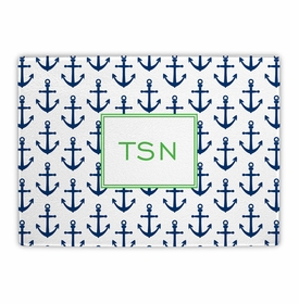boatman geller anchors navy cutting board
