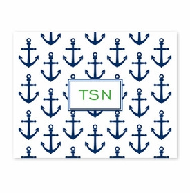 boatman geller anchors navy fold over note