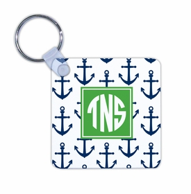 boatman geller anchors navy key chain