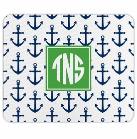 boatman geller anchors navy mouse pad