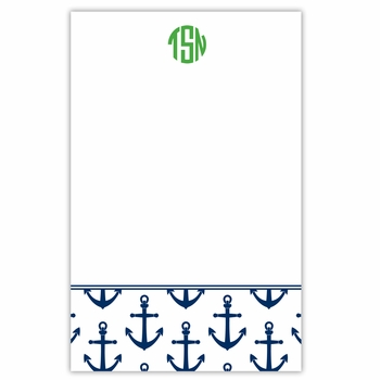 boatman geller anchors navy notepad