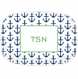 boatman geller anchors navy platter
