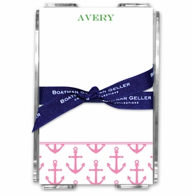 boatman geller anchors pink acrylic note sheets