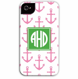 boatman geller anchors pink cell phone case