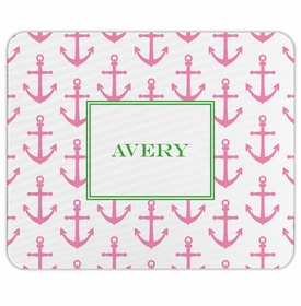 boatman geller anchors pink mouse pad