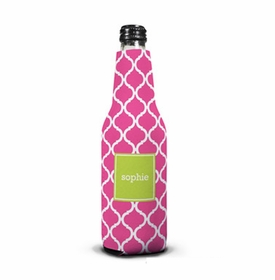 boatman geller ann tile raspberry bottle koozie