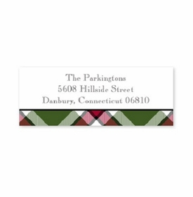 boatman geller ashley plaid moss address labels