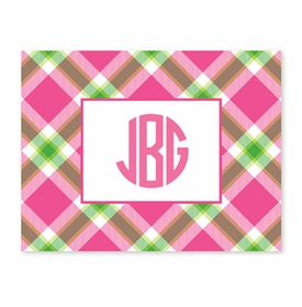 boatman geller ashley plaid pink fold over note