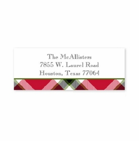 boatman geller ashley plaid red address labels