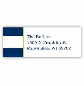boatman geller awning stripe navy address labels